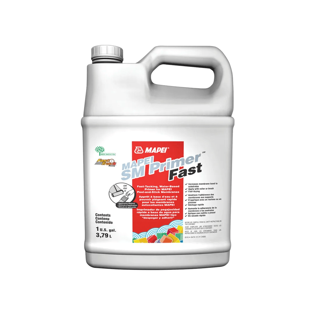 mapei sm primer fast fast tacking water based primer for peel and stick membranes 3 79 l 94333 54