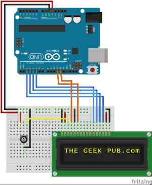 Arduino LCD Display Wiring  The Geek Pub