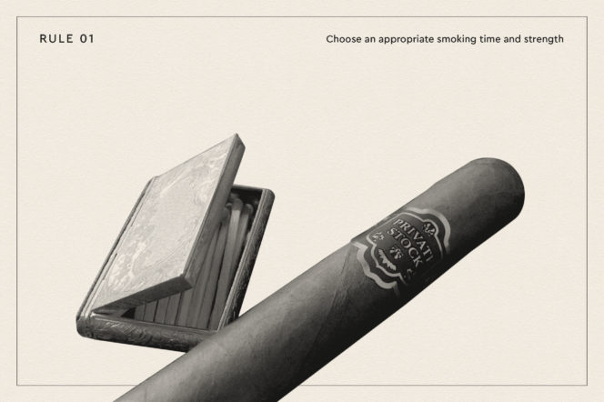 Once and for all, this is the right way to smoke a cigar
