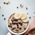 Healthy Banana Mug Cake W Video Vegan The Live In Kitchen