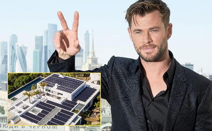 chris hemsworth solar panels new home