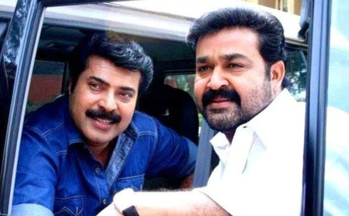 Mammootty & Mohanlal's epic selfie with stars goes VIRAL!