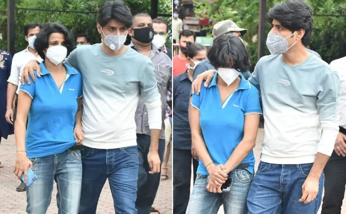 Actor's sister seen at Cooper hospital in Mumbai 1