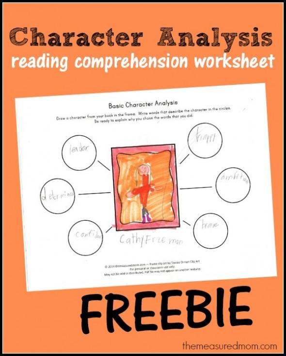Free Characterysis Worksheet For Kids