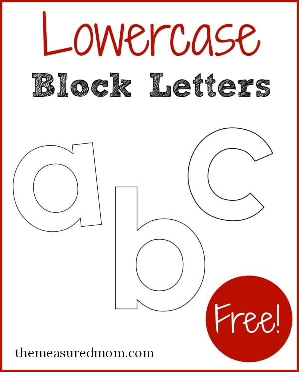 Lowercase Block Letters The Measured Mom