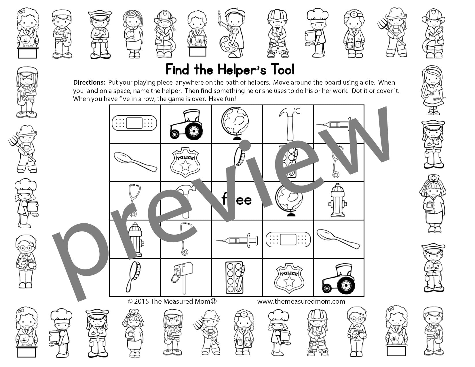 Community Helpers Theme Pack For Pre K K