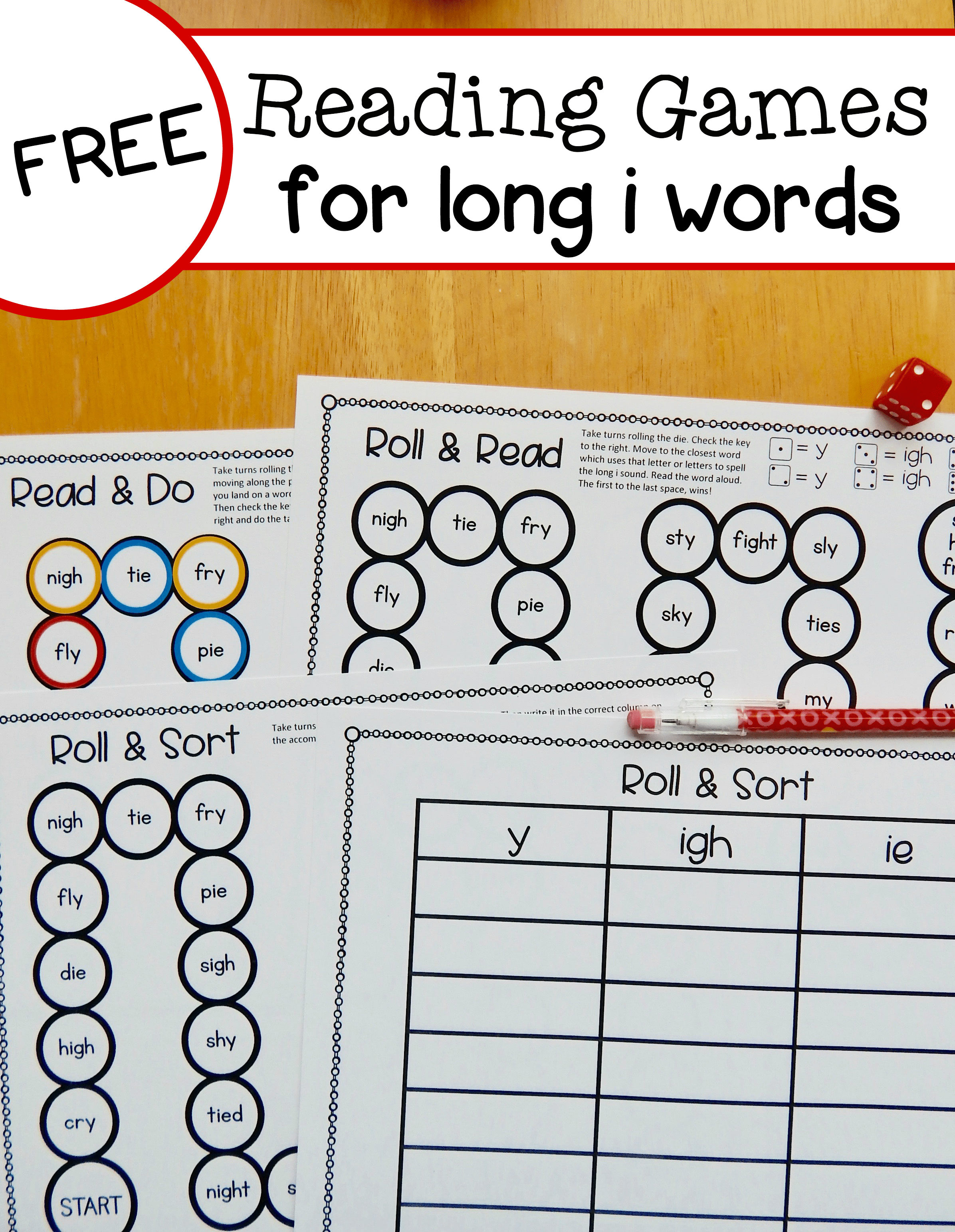 Free Long I Reading Games For Y Ie And Igh Words