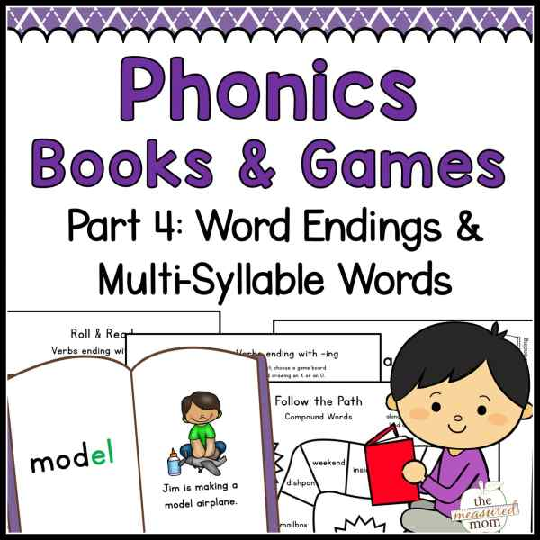 Phonics Books & Games: Word Endings & Multi-Syllable Words ...