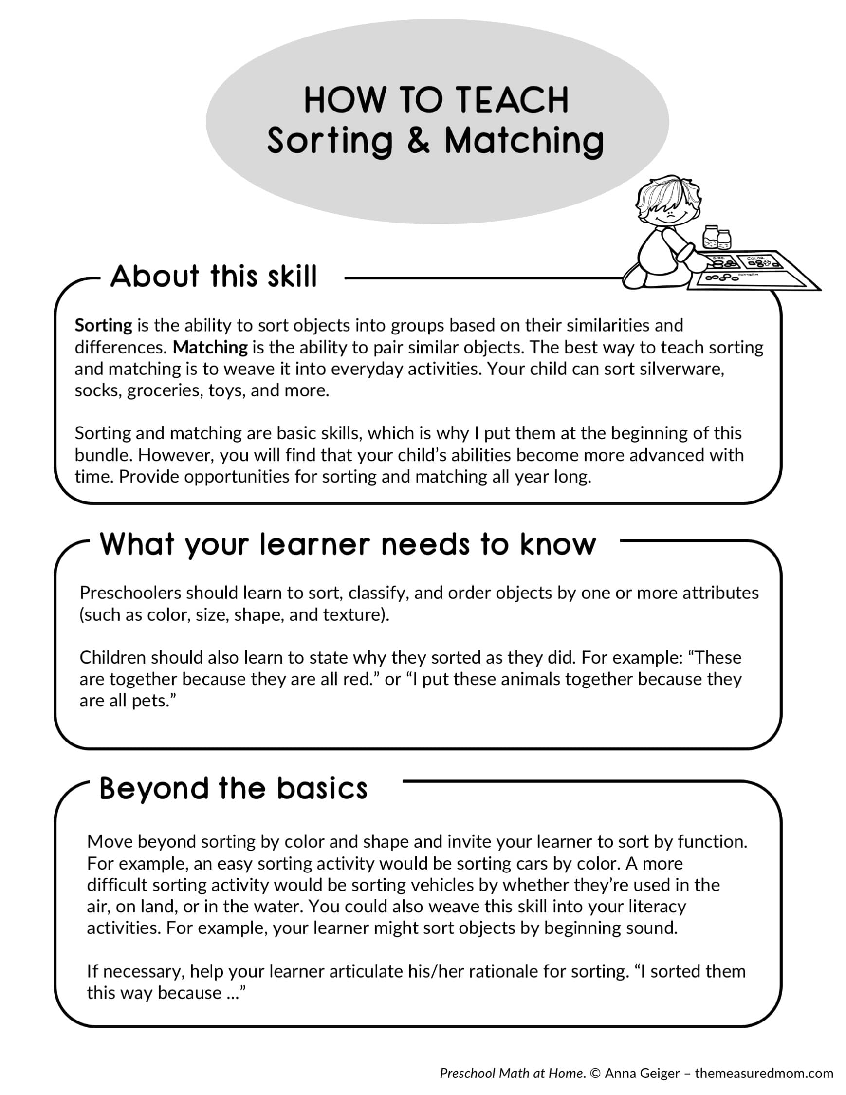 Preschool Math Curriculum For Home