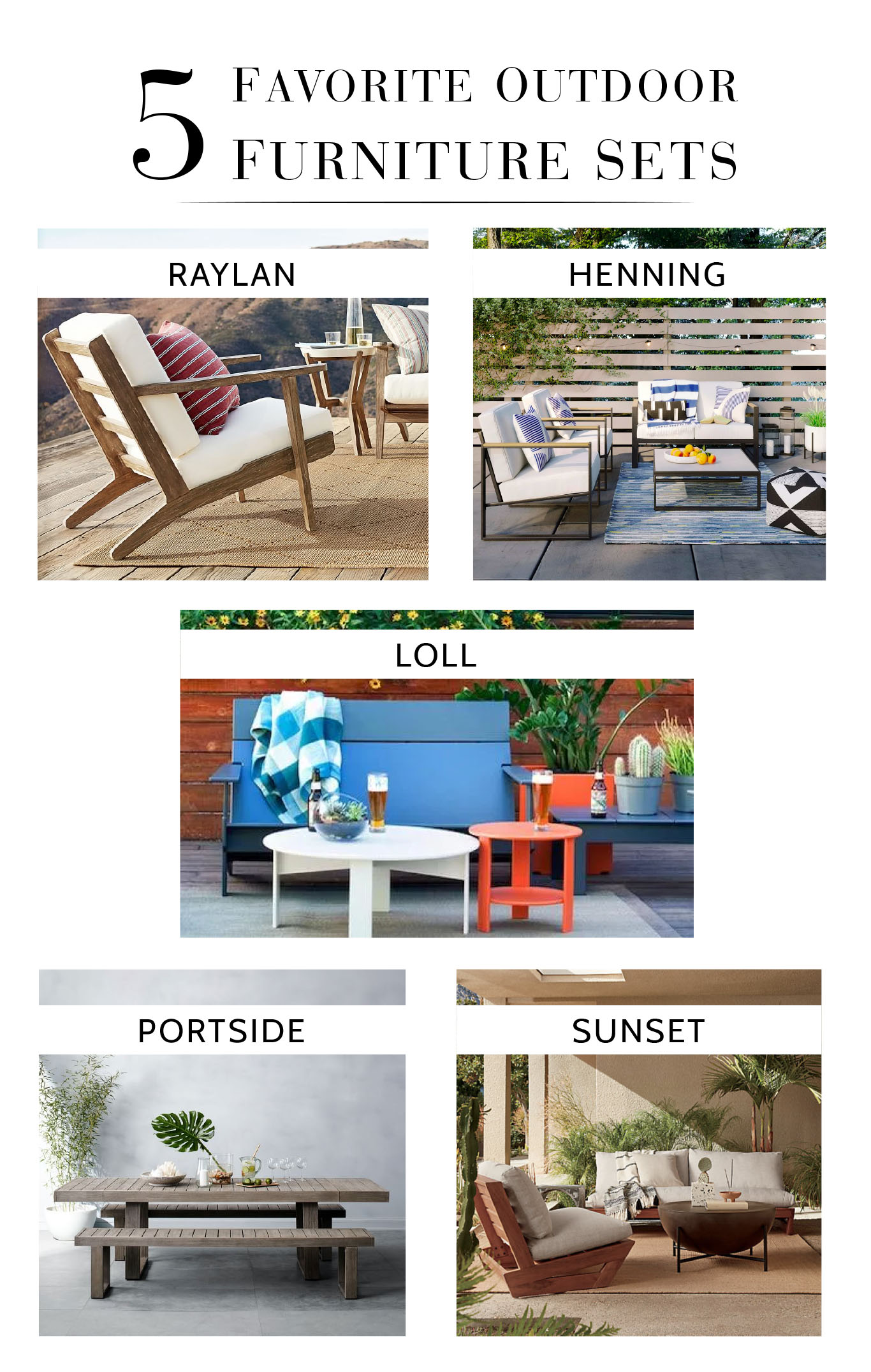 sustainable patio dining sets