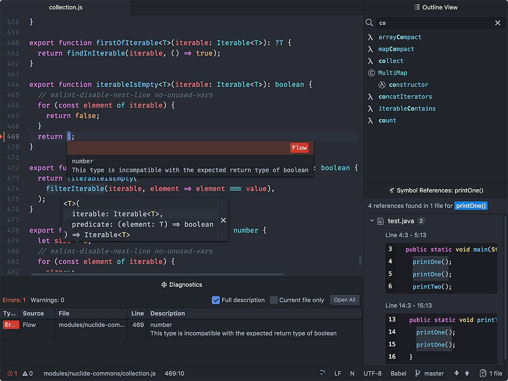 Github S Atom Text Editor Gets A Full Ide The New Stack