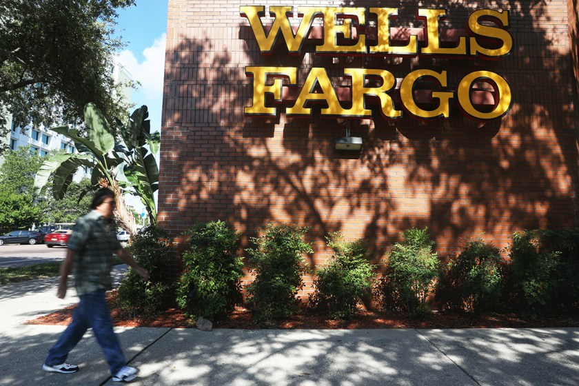 The outside of Wells Fargo in downtown St. Petersburg, Fla.