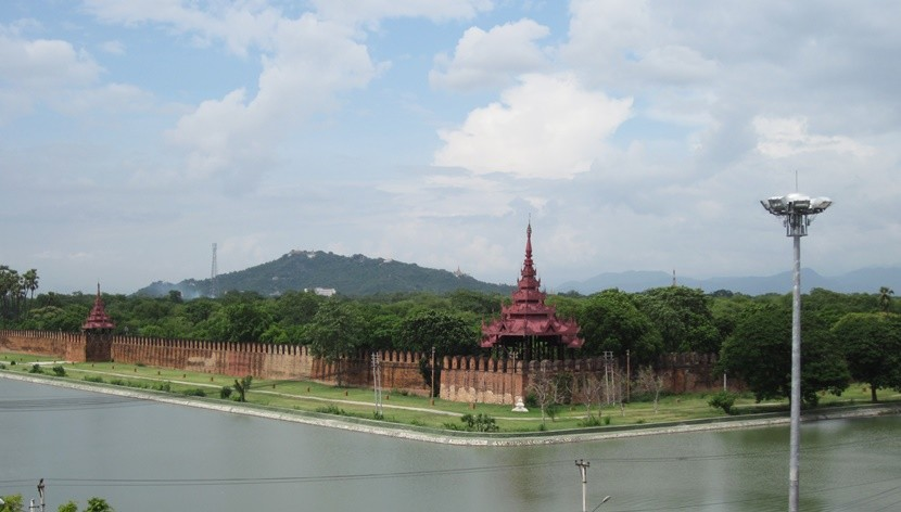 The Mandalay Palace is beautiful spot for a bike ride.