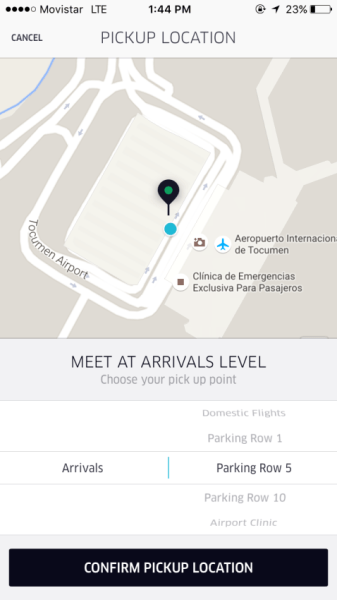 Uber Pickup at the Panama Airport