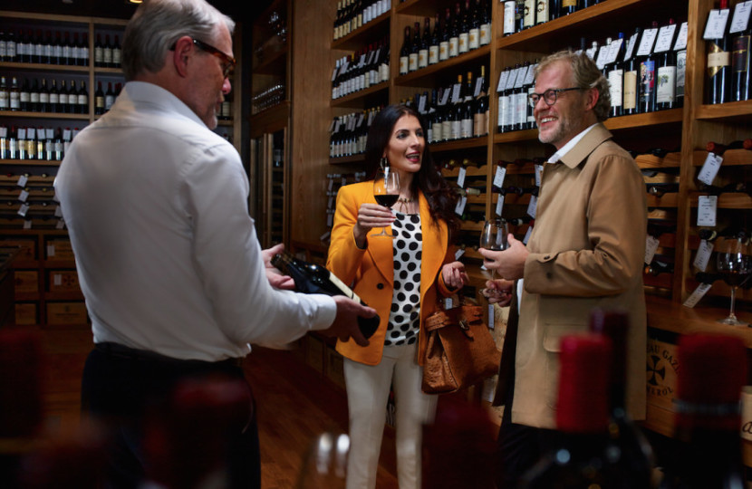 Emirates' First Class Lounge in Dubai even has a wine cellar where you can arrange a tasting.