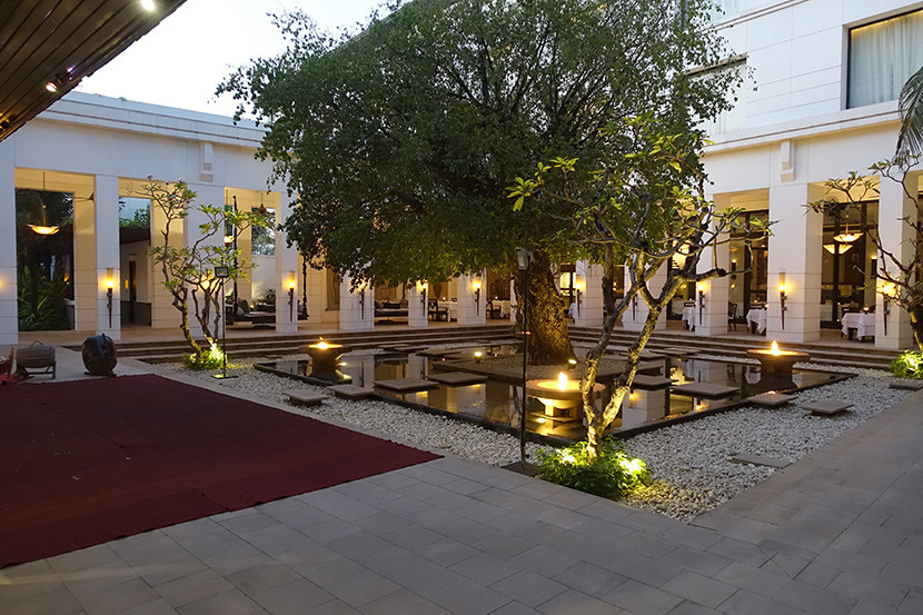 The hotel's main courtyard, where we watched a Cambodian dance performance on our final night.