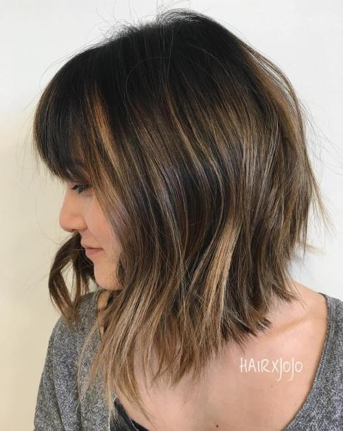 long choppy bob haircuts 20 inspirational choppy bob hairstyles 5214 | 10 long choppy bob with bangs