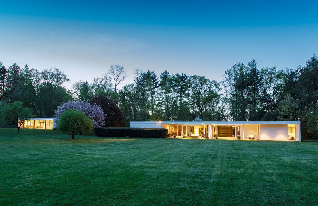 Modernist Glass House Hits The Market In New Canaan For