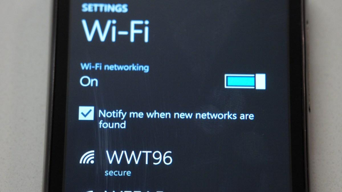 Windows Phone Wifi