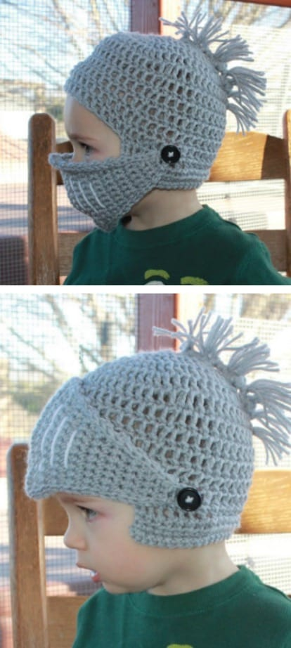 Knitted Baby Helmet Hats