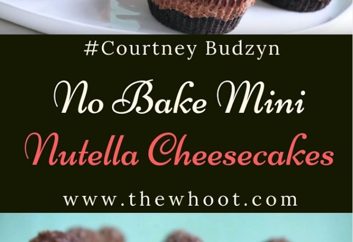 Best Ever No Bake Mini Nutella Cheesecakes Recipe The Whoot