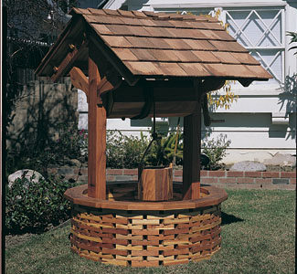 Structure Woodworking Plans Large Wishing Well Wood Project Plan
