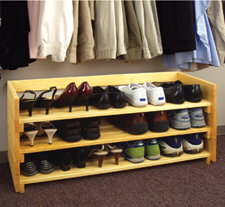 plans for wood shoe rack