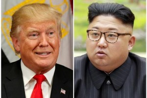 A combination photo shows US President Donald Trump in New York, US September 21, 2017 and North Korean leader Kim Jong Un in this undated photo released by North Korea's Korean Central News Agency (KCNA) in Pyongyang, September 4, 2017. Credit: Reuters/Kevin Lamarque, KCNA/Handout via Reuters/Files