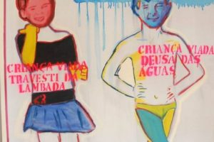 """Criança viada"", by Bia Leite, attracted a wave of moralistic attacks on the grounds that it promotes pedophilia. But the author explains that it is a denouncement of violence against children, humiliated as ""queers"" (viada) if they do not behave as required by the dominant machista culture. Credit: Courtesy of QueerMuseu"