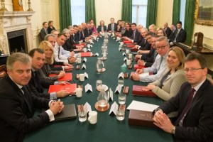 Britain's Prime Minister Theresa May leads her first cabinet meeting of the new year following a reshuffle at 10 Downing Street, London January 9, 2018. Credit: Reuters/Daniel Leal-Olivas/Pool