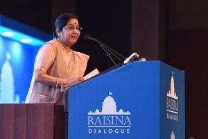 The theme of this year's Raisina Dialogue is 'Managing Disruptive Tendencies: Ideas, Institutions and Idioms'. Credit: Raveesh Kumar/Twitter