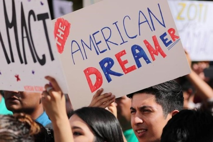 Students gather in support of DACA (Deferred Action for Childhood Arrivals) at the University of California Irvine Student Center in Irvine, California, US, October 11, 2017. Credit: Reuters/Mike Blake/Files