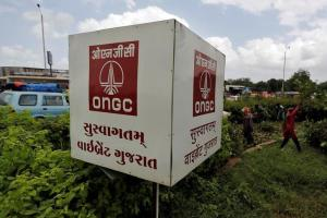 The logo of Oil and Natural Gas Corp's (ONGC) is pictured along a roadside in Ahmedabad, India, September 6, 2016. Credit: Reuters/Amit Dave/File Photo