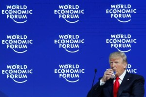 US President Donald Trump delivers a speech during the World Economic Forum (WEF) annual meeting in Davos, Switzerland January 26, 2018. Credit: Reuters/Denis Balibouse