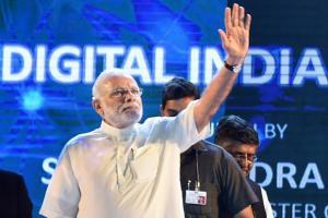 File photo of Narendra Modi at the launch of Digital India week. Credit: PTI
