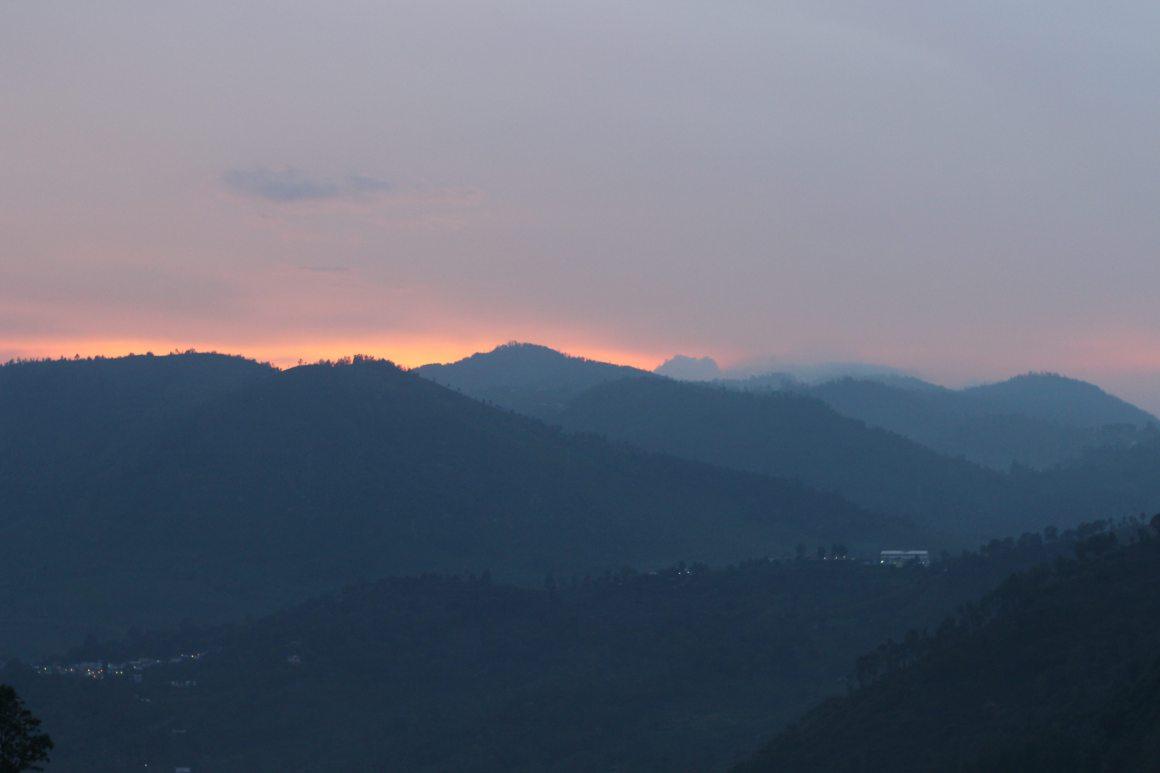 Sunset in the Nilgiris. Credit: Shibi Arasu