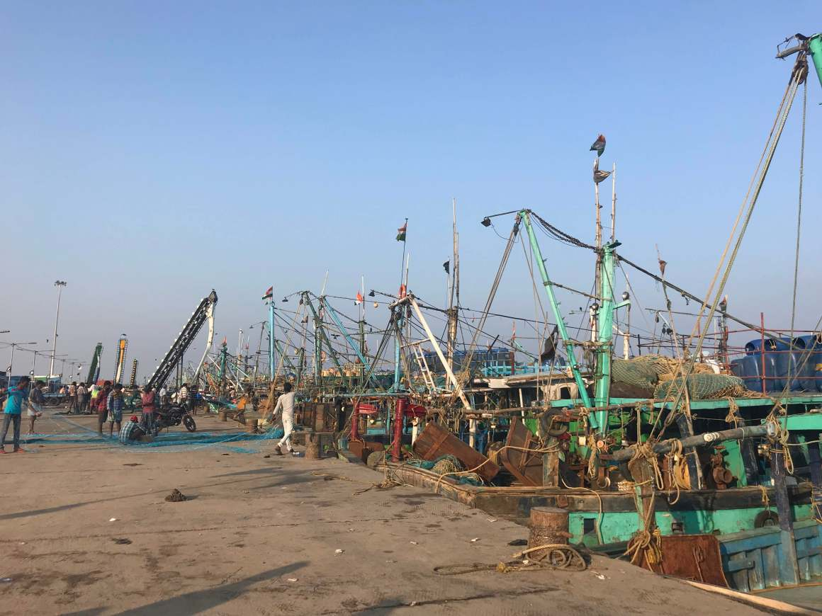 Trawler boats docked at Kasimedu fishing harbour. Credit: Supriya Vohra