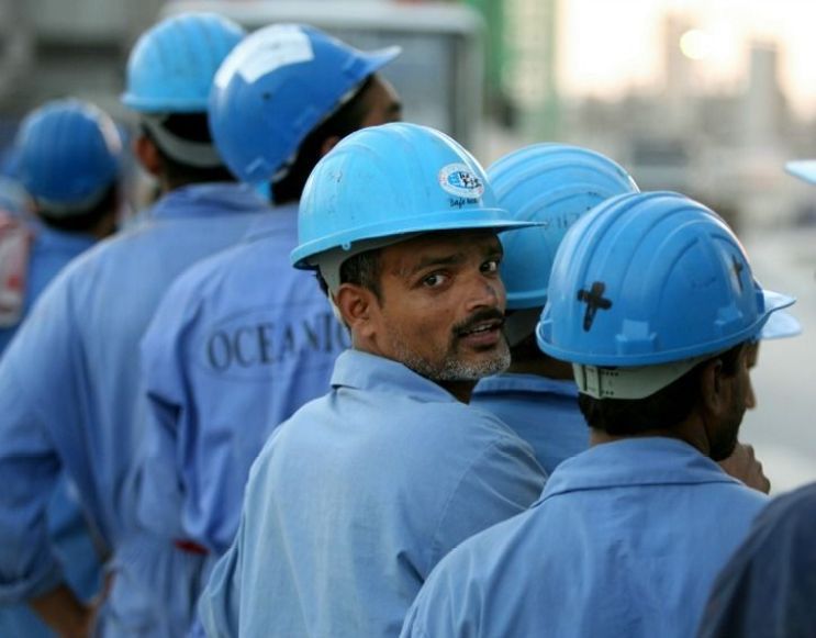 India workers in UAE. Credit: Reuters