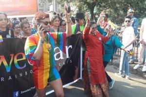 Members of Sweekar marching at Mumbai Pride. Credit: Sonali Verma