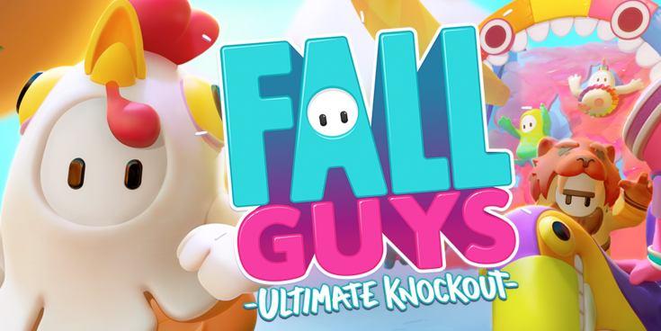 Fall Guys video game logo.