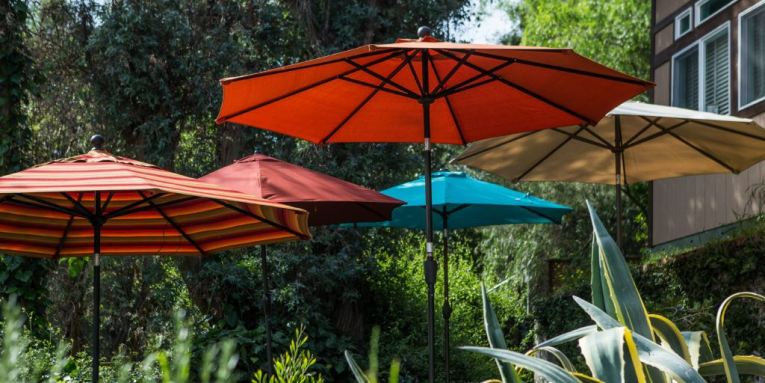 The Best Patio Umbrella and Stand  Reviews by Wirecutter   A New     The Best Patio Umbrella and Stand
