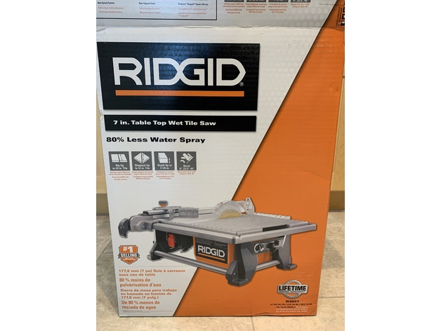ridgid tile saw rip fence spacer by