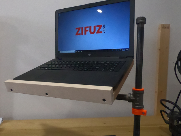 3d Printed Bushing Amp Pipe Collar For Diy Laptop Stand By