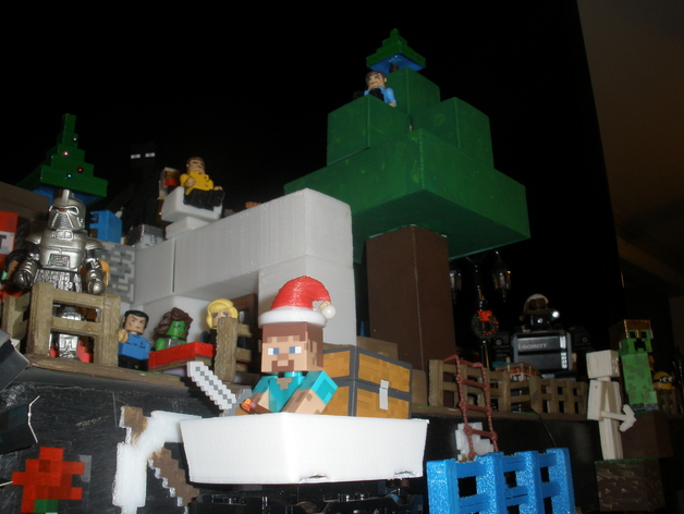 Mine Cart For LEGO Train Scale To Minecraft Toy Steve By