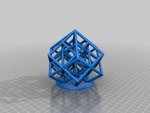 Lattice Cube 3D Printer Torture Test Overhangs And Dual