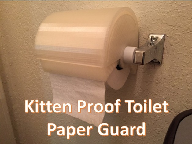 Kitten Proof Toilet Paper Guard By Johnny Lawrence