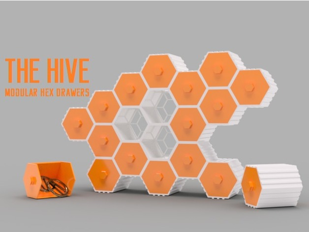 The HIVE Modular Hex Drawers By O3D Thingiverse