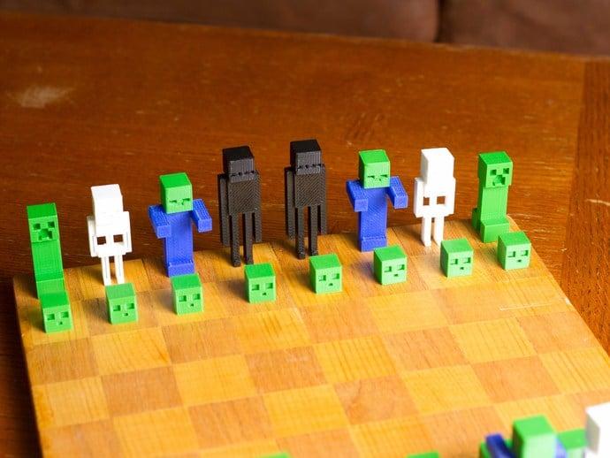 Minecraft Chess Set By PotatoFi Thingiverse