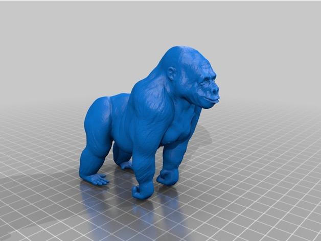 Gorilla Converted To Stl By Mb20music Thingiverse