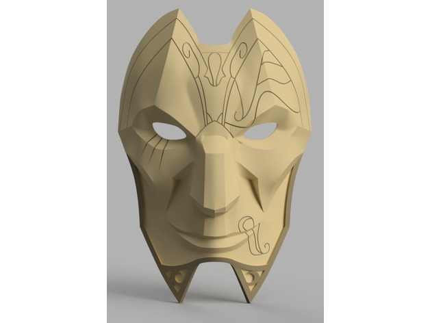 Jhin Mask League Of Legends By Killonious Thingiverse